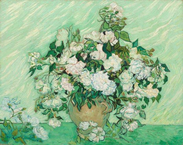 Vincent van Gogh (Dutch, 1853 - 1890 ), Roses, 1890, oil on canvas, Gift of Pamela Harriman in memory of W. Averell Harriman