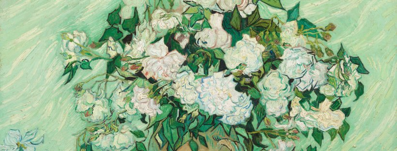 Vincent van Gogh (Dutch, 1853 - 1890 ), Roses, 1890, oil on canvas, Gift of Pamela Harriman in memory of W. Averell Harriman