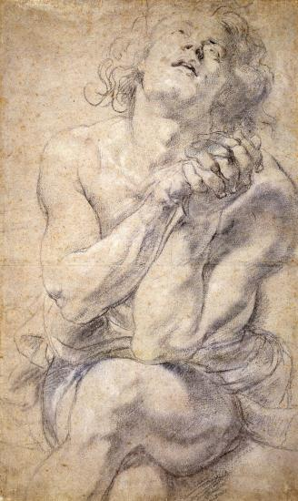 Peter Paul Rubens (1577–1640), Seated Male Youth (Study for Daniel). The Morgan Library & Museum.