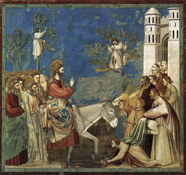 The Entry into Jerusalem, Giotto, 1305; Italy.